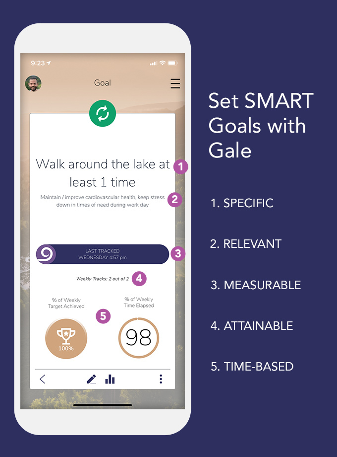 Set SMART Goals - Specific, Measurable, Attainable, Realistic, Time-based - with Gale